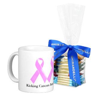 Kicking cancers butt chocolates basic white mug
