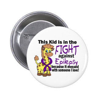 Kid In The Fight Against Epilepsy 6 Cm Round Badge