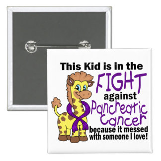 Kid In The Fight Against Pancreatic Cancer 15 Cm Square Badge