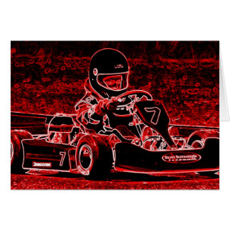 Kid Karts are RED Hot Greeting Card