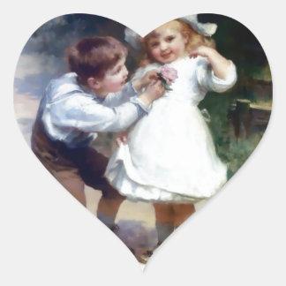 Kid Sweethearts painting Heart Sticker
