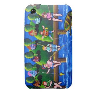 Kids Fishing Fun Folk Art Phone Case