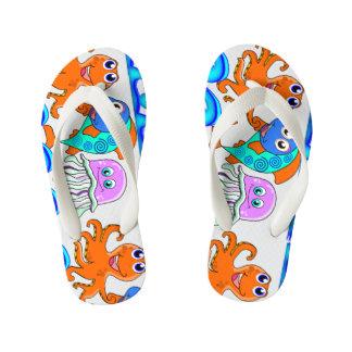 kids, funny sea flip flops