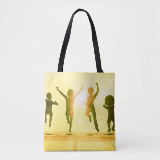 Kids Having Fun and Playing by the Beach Tote Bag