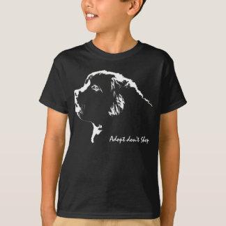 Kid's Newfoundland Dog Shirt Adopt Don't Shop Tee