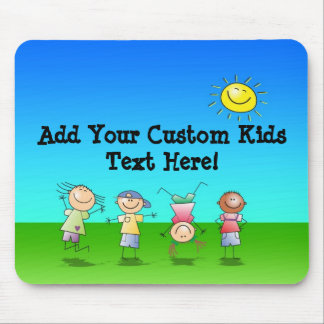 Kids Playing Outdoors on a Sunny Day Mouse Pad