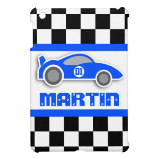 Kids racing blue sports car named age ipad mini iPad mini case