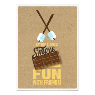 Kids Sweet Birthday Bonfire Smores Invitations
