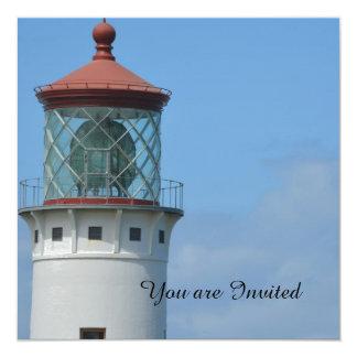 Kilauea Lighthouse 13 Cm X 13 Cm Square Invitation Card