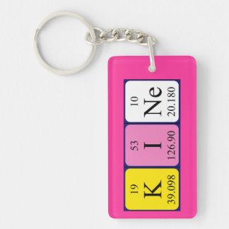 Kine periodic table name keyring Single-Sided rectangular acrylic key ring
