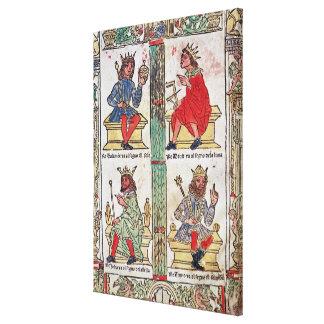 King David, Solomon, Luba and Turnis Canvas Print