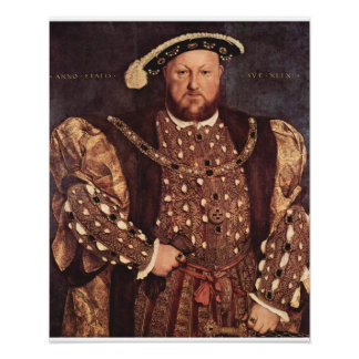 King Henry VIII Canvas Print Poster