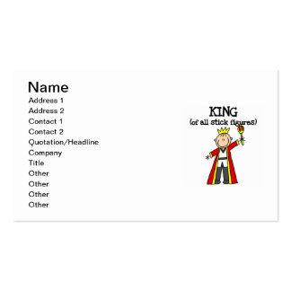 King of All Stick Figures Pack Of Standard Business Cards