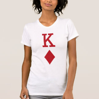 King of Diamonds Red Playing Card Shirt