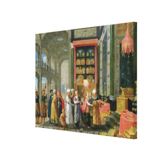 King Solomon and the Queen of Sheba Gallery Wrap Canvas