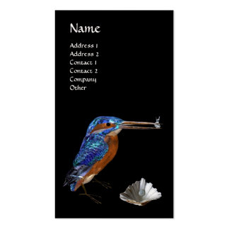 KINGFISHER  MONOGRAM , Electric Blue, Black, Pearl Pack Of Standard Business Cards