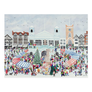 Kingston Market Surrey Postcard