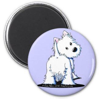 KiniArt Fluffy Butt Westie Magnet