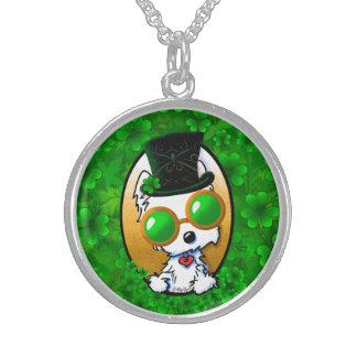 KiniArt Lucky Westie Round Pendant Necklace