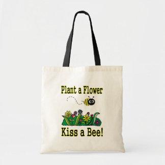Kiss a Bee Budget Tote Bag