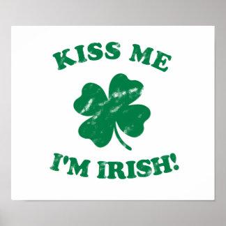 Kiss me I'm Irish Vintage Poster