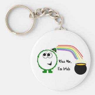 Kiss Me, I'm Irish Weeble Keychain