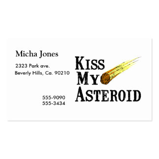 Kiss My Asteroid Pack Of Standard Business Cards