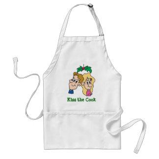 Kiss the Cook Mistletoe Apron
