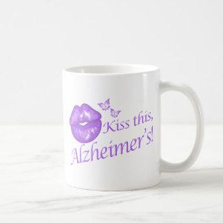 Kiss This Alzheimer's! Basic White Mug