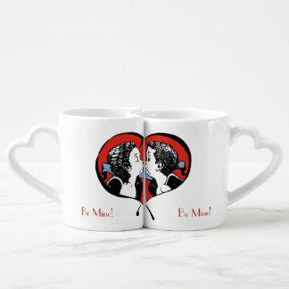Kissing Couple - boy surprised - Be Mine! Lovers Mug
