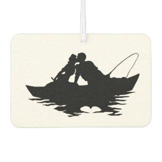 Kissing Fishing Couple Silhouette Air Freshener