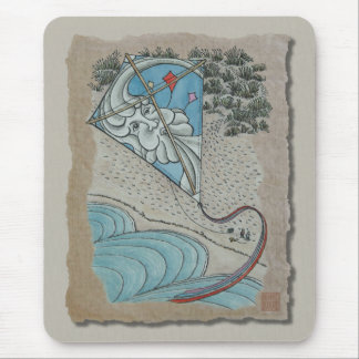 Kite & Mr. North Wind Mouse Pad