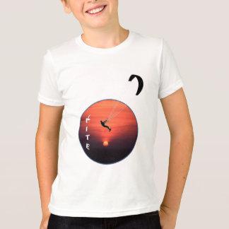 Kite-Surfing on Sunset Background T Shirt