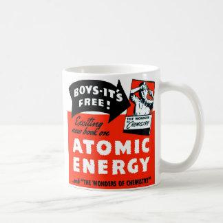 Kitsch Vintage Atomic Energy For Kids! Basic White Mug