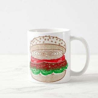 Kitsch Vintage Big Hamburger Basic White Mug