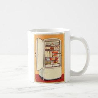 Kitsch Vintage Classic Refrigerator Basic White Mug