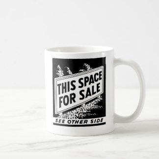 Kitsch Vintage Matchbook This Space For Sale Basic White Mug