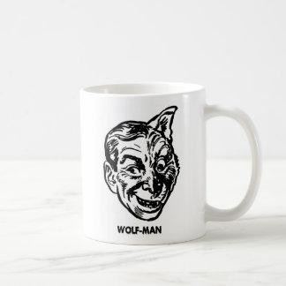 Kitsch Vintage Monster Wolfman Basic White Mug