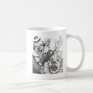 Kitsch Vintage Never Trust a Clown Basic White Mug