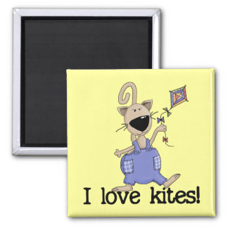Kitten Love Kites Tshirts and Gifts Square Magnet