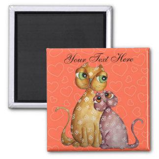 Kittens in Love Valentine Magnet
