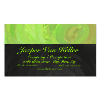 Kiwi Bash Green and Black Monogram Pack Of Standard Business Cards