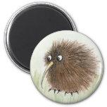 Kiwi Bird 6 Cm Round Magnet