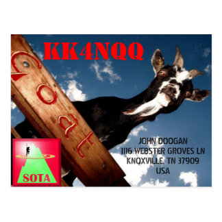 KK4NQQ QSL CARD POSTCARD