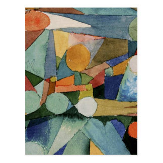 Klee: Colour Shapes abstract art Postcard