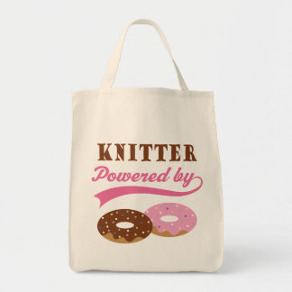 Knitter Funny Gift Grocery Tote Bag