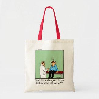 Knitting Humor Tote Bag Gift
