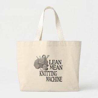 Knitting Machine Jumbo Tote Bag