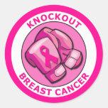 KNOCKOUT BREAST CANCER ROUND STICKER