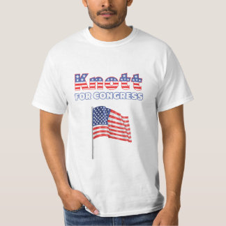 Knott for Congress Patriotic American Flag Tshirt